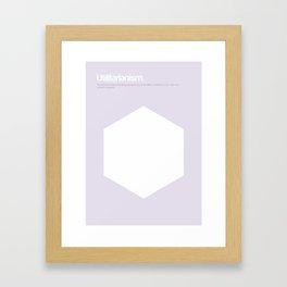 Utilitarianism Framed Art Print