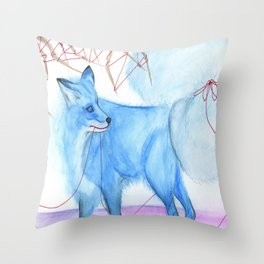Karma Fox Throw Pillow