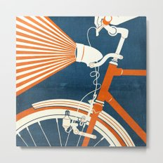 Bicycle Light Metal Print