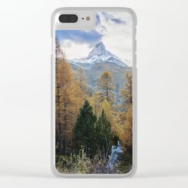 Autumn Colors by the Matterhorn Clear iPhone Case