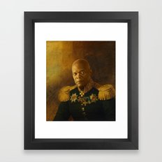 Samuel L. Jackson - replaceface Framed Art Print