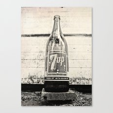 Old Seven-Up bottle Canvas Print