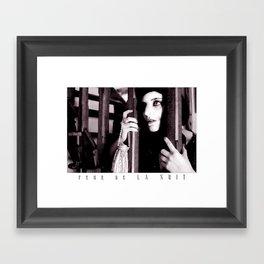 Peur De La Nuit Framed Art Print