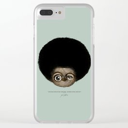 """""""I am no longer accepting the ... (Angela Y. Davis) Clear iPhone Case"""