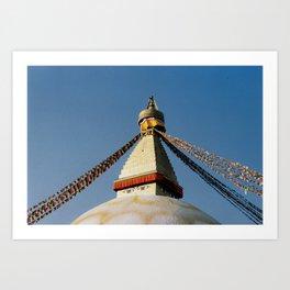 Boudhanath Stupa in Katmandu.  Art Print