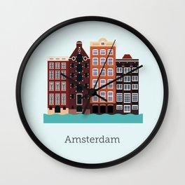 Vector City - Amsterdam Wall Clock