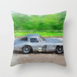 300 SLR Uhlenhaut Coupe Throw Pillow