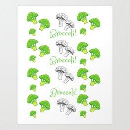 Broccoli green theme Art Print