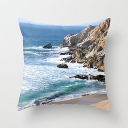 CALIFORNIA COAST - BLUE OCEAN Throw Pillow