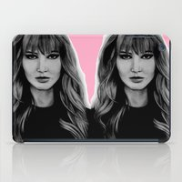jennifer lawrence iPad Cases featuring Jennifer Lawrence by Lydia Dick