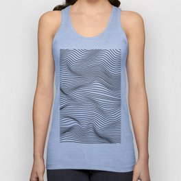 Abstract Wave Lines Unisex Tank Top