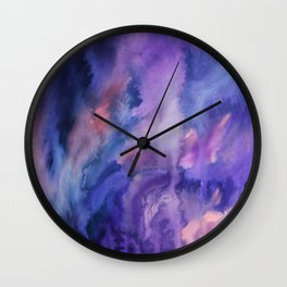 ON HOLD Watercolour Wall Clock