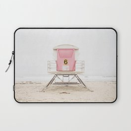 Beach photography pink tower Laptop Sleeve