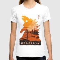 godzilla T-shirts featuring Godzilla  by tim weakland
