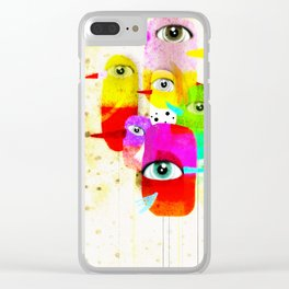 Healthy Happy Pills Birds Clear iPhone Case