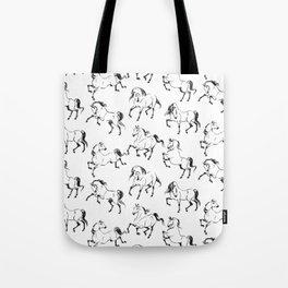 Dancing Horses Tote Bag