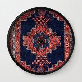 Afshar Kerman South Persian Rug Print Wall Clock