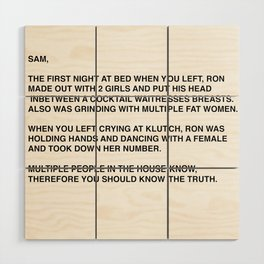 Anonymous Letter To Sammi Sweetheart Jersey Shore Wood Wall Art