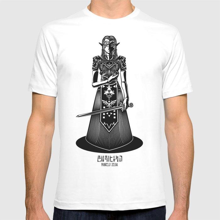 Legend of Zelda Princess Zelda Line Work  T-shirt
