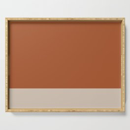 Minimalist Solid Color Block in Clay and Putty Serving Tray