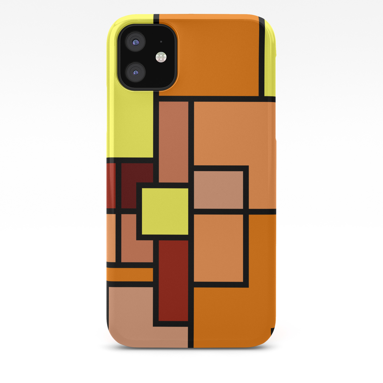 - The Colors Of / Mondrian Series - Lion King IPhone Case By Hyos