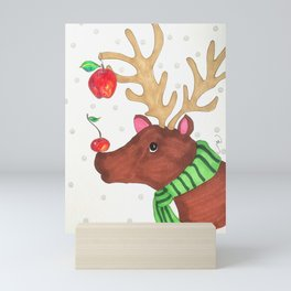 Wishing Rudolf  Mini Art Print