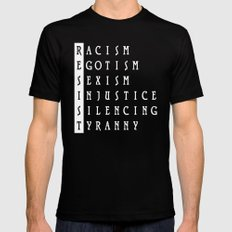 Resist : a political protest MEDIUM Mens Fitted Tee Black