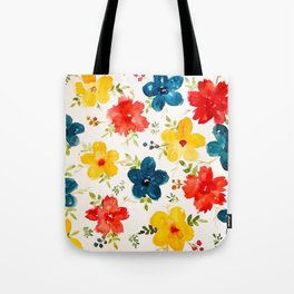 Warm flowers Tote Bag