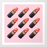 Dick Lipstick Art Print