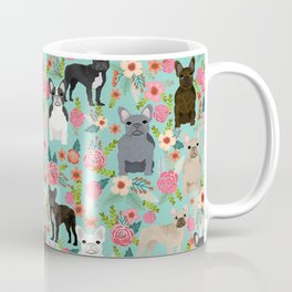 Frenchie floral french bulldog cute pet gifts dog breed must haves florals french bulldogs Coffee Mug