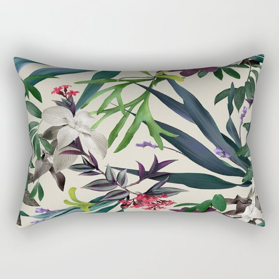 Tropical leaf pattern II Rectangular Pillow