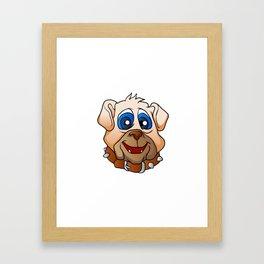 bulldog face. Framed Art Print