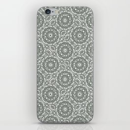Grey Ornate Decorative Pattern iPhone Skin