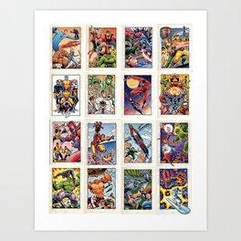 Sketchagraph Cards Art Print