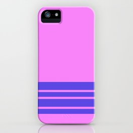 Violet Slate Stripes Blue Wall iPhone Case