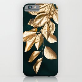 Abstract Leaves tropical decor art minimalist print iPhone Case