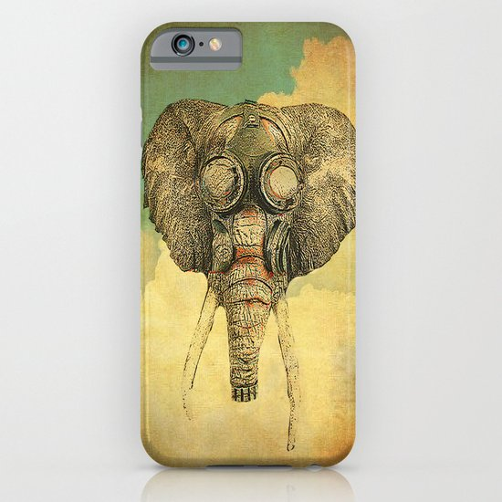 Gas mask for elephant iPhone & iPod Case