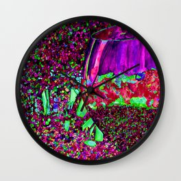 Abstract Wine Glass in Pinks Wall Clock
