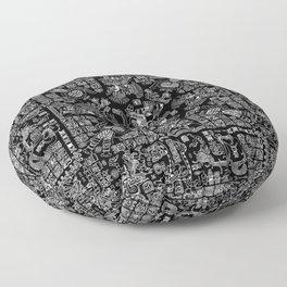 Mayan Spring B&W II Floor Pillow