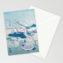 Haku the dragon japanese vintage woodblock mashup Stationery Cards