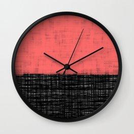 Platno (Coral) Wall Clock
