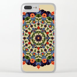 Flower and Fruit Collage Mandala Clear iPhone Case