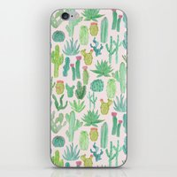 iPhone & iPod Skins featuring Cactus by Abby Galloway