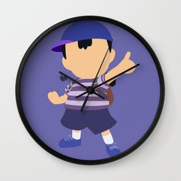 Ness(Blue)Smash Wall Clock
