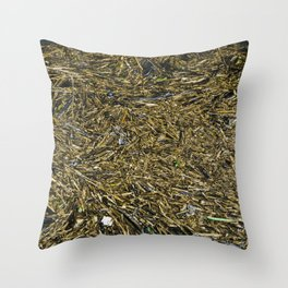 floating wood texture Throw Pillow