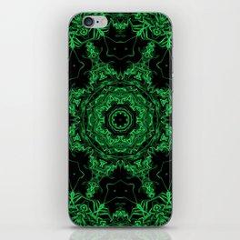 Green and Black Kaleidoscope 3 iPhone Skin