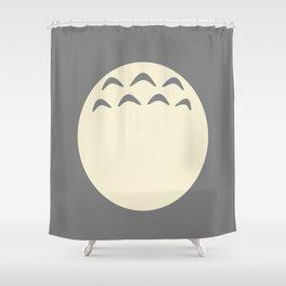 Forest Spirit Gray Shower Curtain