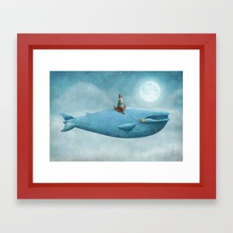 Whale Rider  Framed Art Print