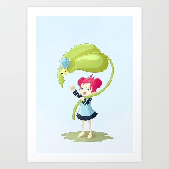 Stupid Snail Art Print