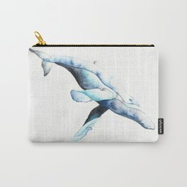 Whale swimming in ocean Carry-All Pouch
